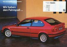 Prospekt BMW 316i compact 1 94 1994 Autoprospekt Auto PKWs brochure 3er