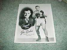 1950s Slidewell Bows Boxing Photo Ad Premium Joe Baksi Heavyweight Contender