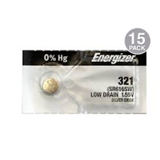Energizer 321 Watch Batteries SR616SW Battery Cell (15 Pack)