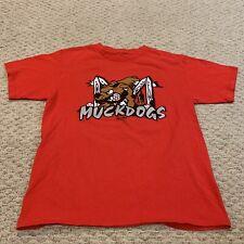Batavia Muckdogs Minor League Baseball T Shirt Majestic YOUTH BOYS Medium 10-12