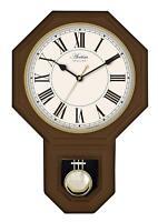Acctim Yarnton Radio Controlled Pendulum Wall Clock 46cm Dark Wood Effect 76086