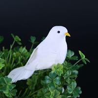 White Peace Dove Feather Foam Birds Christmas Wedding Home Craft Decoration