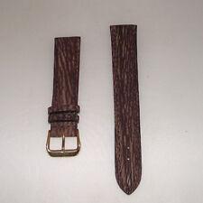 Cinturino pelle stampa lucertola colore beige gold ansa 18 fibbia cromata b166A1