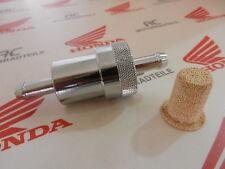 "Universal Fuel gaz FILTRE ALU CHROME Ceramic screen 5/16 ""pouces 8 mm Fuel tube"