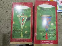 Lot of 2 Hallmark Ornaments The Christmas cone and Memories of Christmas