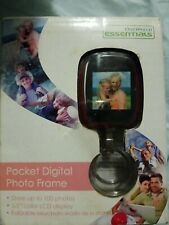 ONE WORLD ESSENTIALS POCKET DIGITAL PHOTO FRAME & STAND COLOR LCD 100 PIC