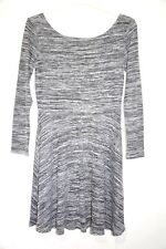 Atmosphere Grey Knit Dress Size 14 Long Sleeve Autumn Stretchy Fabric