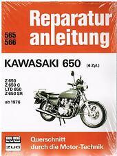 Buch Reparaturanleitung  Kawasaki LTD / Z 650 (4 Zyl.) ab Bj 1976 Bd 565/566