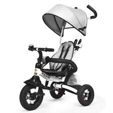 6-In-1 Kids Baby Stroller Tricycle Detachable Learning Bike w/ Canopy Bag