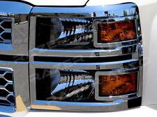 RazerAuto RZWFL-0004 Chrome Headlight Cover Trim Bezel Set