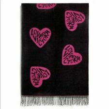Victoria Secret Blanket Throw Love Hearts Pink & Black New With Tags Retail $68