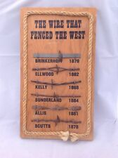 Barbed Wire Sampler 1800s THE WIRE THAT FENCED THE WEST America Barbed Wire IOWA