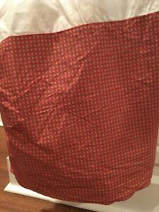 Ralph Lauren Green Label Queen Size Bedskirt/Dust Ruffle Rust