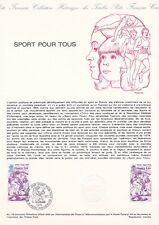 Document philatélique 42-78 1er jour 1978 Sport pour tous