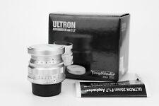 Voigtlander Aspherical ASPH Ultron 35mm 1:1.7 obiettivo lens Leica m39 screw
