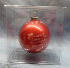Minnesota,Benson,1993~6th In Series~Community Christmas Bulb~Southside School