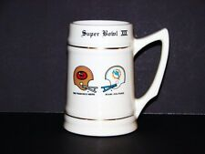 Super Bowl XIX San Francisco 49ers vs Miami Commemorative Mug Stein 24oz NICE!
