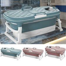 More details for foldable bathtubs shower bath barrel with cover lid plastic adults children kids