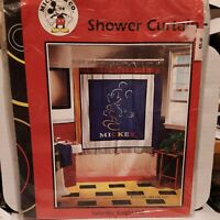 Vintage Mickey Mouse Paintbrush Shower Curtains NEW NEVER OPENED  MINT CONDITION