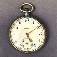 Favor Swiss Pocket Watch Vintage Military Rare Mechanical Original Collection