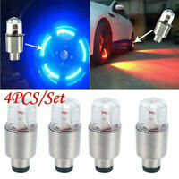 Hot!! 4Pcs LED Dragonfly Car Wheel Tyre Decor Bulbs Tire Air Valve Stem Cap Lamp