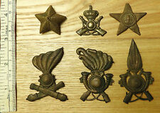 Military WW1/2 6x Italian Fascist Badges Cap Pith Helmet Artillery Rifles (3749)
