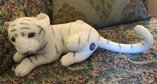 """14"""" Ringling Bros BARNUM BAILEY Circus Greatest Show WHITE Tiger Laying Plush N9"""