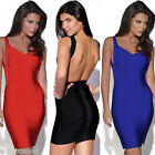 Sexy Womens Bandage Bodycon Backless Clubwear Cocktail Evening Party MINI Dress