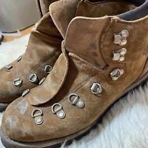 Vintage Vasque Leather Mens Hiking Mountaineering Boots Brown Lace Up Ankle 7 M