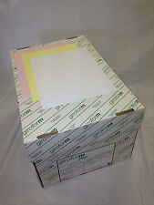 Carbonless Paper 3-Part Straight GIROFORM 1 Case, 10 Reams White, Canary, & Pink