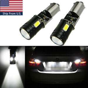 Xenon White Bax9s Error Free 30W LED 5SMD Parking Backup Light Bulbs 64132 64136