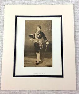 1922 Antique Print Francisco Goya Painting Portrait of The Duque De San Carlos