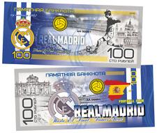 Russia 100 rubles 2019 Real Madrid Football club . Polymeric
