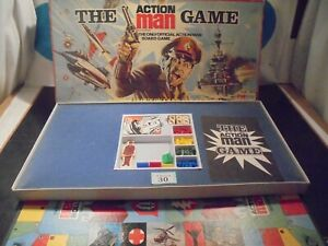 Vintage Action Man Board Game By Palitoy - Complete In VGC For Age (#30)