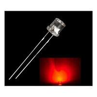 100Pcs 5mm Flat Top LED Multicolor Water Clear Super Bright LED Light Lamp Bulb