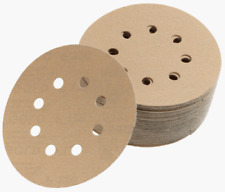 "Mirka 23-615-180 Gold 5"" 8H Grip Vacuum Disc 180G, Pack of 50"
