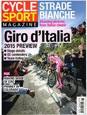 CYCLE SPORT MAGAZINE June 2015 Giro d'Italia TAYLOR PHINNEY Strade Bianche @NEW