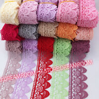 BF136 1 Yard, Lace Trim Ribbon For Dress Veil skirt Embroidered Sewing DIY Craft