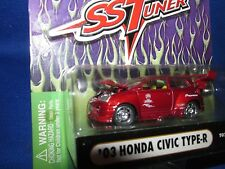 03 HONDA civic TYPE R muscle machine Import street racer SST tuner RED 1/64