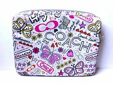COACH Poppy Glam Butterfly Multi Color Padded Laptop Case  Perfect for Student