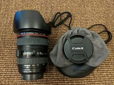 Canon EF 24-105mm F4 L IS USM Zoom Lens, Hood and Pouch + hoya UV filter