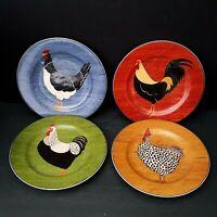 Sakura Country Quartet Rooster 4 Salad Plates Warren Kimble Brandon House