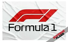 Formula 1 Flag Banner (3x5 ft) One Auto Car Racing Garage White New