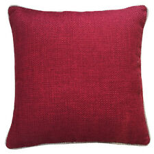 """Texture Weave Cushions Covers With Piping Detail 17"""" x 17"""" Inches (43cm x 43cm)"""