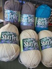 Mary Maxim Starlette Yarn 6 Skeins Worsted Weight 1000+ Yards 100 Gram Each