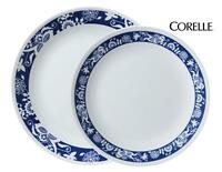 Corelle TRUE BLUE 10 1/4 DINNER or 8 1/2 LUNCH PLATE *Reversed OLD TOWN Pattern