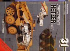 A J Press. gunpower no. 31. WW 2 jagdpanzer 38t HETZER. vol. 2 with scale drawin