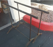 Rustic Pottery Barn Wrought Iron Trestle Legs for Dining Table or Desk Modernist