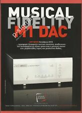 M1 DAC Amplifier by Musical Fidelity Print Ad