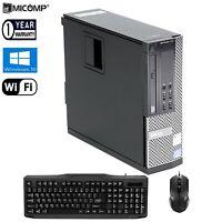 Fast Dell Desktop Computer PC Core i5 8GB RAM 120GB SSD HDD Windows 10 HDMI WiFi